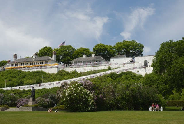 Fort Mackinac during Lilac Festival