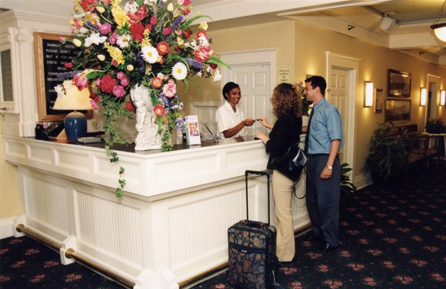Front Desk of Murray Hotel on Mackinac Island